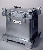 Kleincontainer ASP 240 ltr. LxBxH: 715x715x875 mm