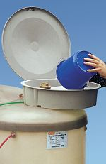 Einfüllschale komplett mit Saugrohr, TW-Kupplung