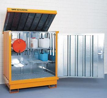 Safemaster Komplett-Set 2 SM 2 lackiert, 4 Regalstützen