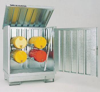 Safemaster Komplett-Set 3 SM 2 lackiert, 4 Regalstützen
