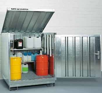 Safemaster Komplett-Set 6 SM 4 lackiert, 2 Regalstützen