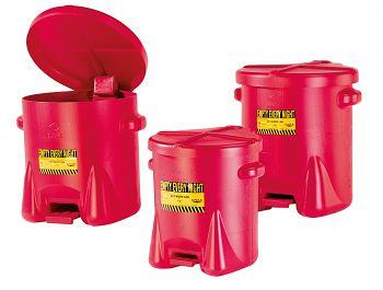 Entsorgungsbehälter aus PE runde Form mit Fußpedal 53 Ltr.