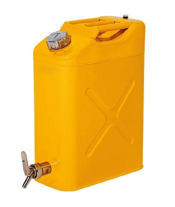 Sicherheitskanister mit Abfüllhahn 20 Liter Stahl lack.