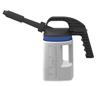 LubriFlex Abfüllkanne PE, 2 Liter mit kurzem/langem Auslauf