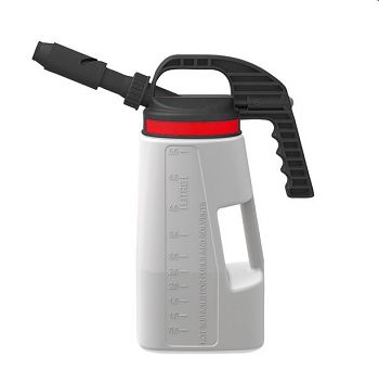 LubriFlex Abfüllkanne PE, 5 Liter mit kurzem/langem Auslauf