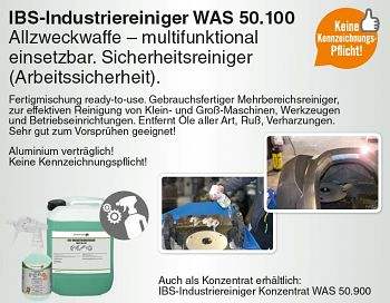 Industriereiniger WAS 50.100 10 Liter Kanister