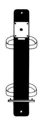Befestigungsschiene für Pfosten inkl. Schloß und Schlüssel