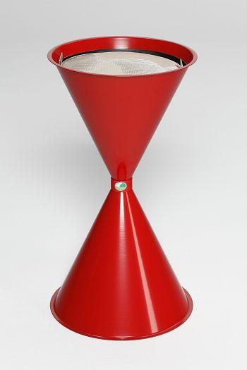 Standascher ohne Dach rot RAL 3000 HxØ: 730 x 400 mm