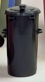 Kunststoffmülltonnen, grau rund 35 ltr.