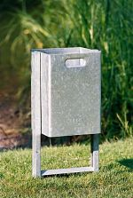 Abfallbehälter 37 ltr. mit Doppelständer z. Eingraben