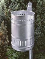 Abfallbehälter,Stahlblech feuerverzinkt, 30 Ltr.