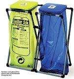 Müllsackständer Klappfix BxTxH 400x400x800 mm Deckelfarbe gelb