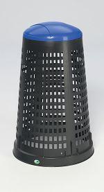 Kunststoff-Korbständer Inh. ca. 90 ltr., Deckelfarbe blau