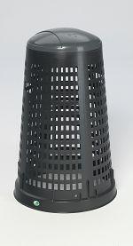 Kunststoff-Korbständer Inh. ca. 90 ltr., Deckelfarbe grau