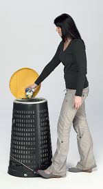 Fußpedalgestänge für Korbständer
