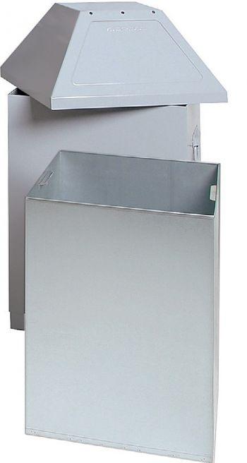 Wertstoffsammelbehälter ABF Mod. 1 HxBxT:870 x 450 x 450mm weißaluminium