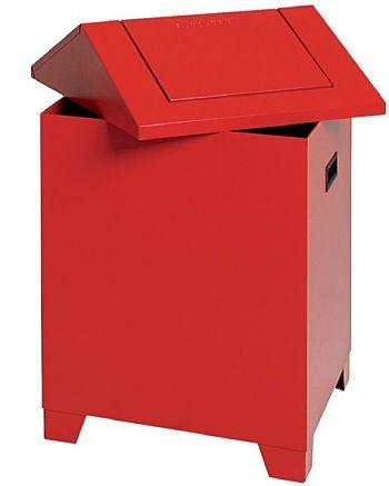 Putzwollbehälter PWK,  rot / rot 73 Ltr., HxBxT: 680 x 400 x 400 mm