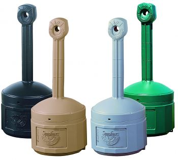 Standascher aus Polyethylen grau, Inhalt: 15 Liter