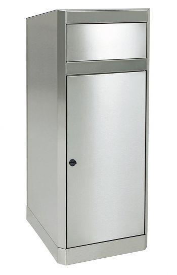 Edelstahl-Abfallsammler / Gebäude 80 Ltr., HxBxT: 1060 x 420 x 420 mm
