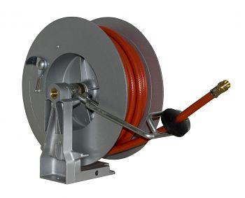 Schlauchaufroller mit 20 mtr. Spezial-PVC-Schlauch DN 10-15 bar
