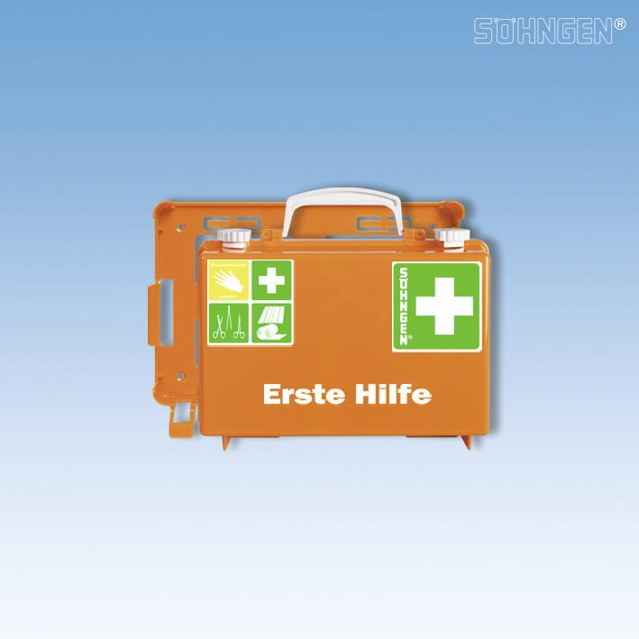 Erste-Hilfe-Koffer QUICK-CD orange Füllung Norm nach DIN 13157