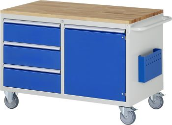 Montagewagen mit Buche-Top B 1145 x T 650 x H 795 mm