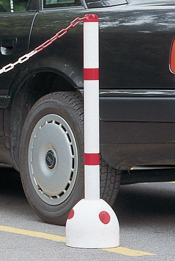 Parkpilz aus Kunststoff m. Sperrpfosten aus Kunststoff