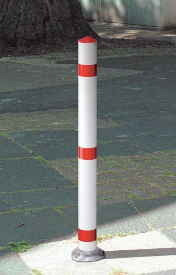 Stahl-Federsperrpfosten Ø 76mm selbstaufrichtend, zum Aufdübeln