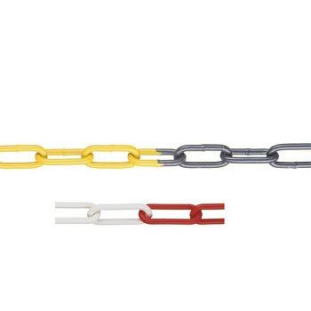 Sperrkette aus Stahl+Zink, r/w 6 mm, 1 Bund = 15 mtr.