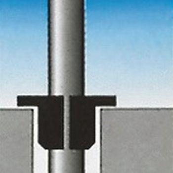 Bodenhalterung mit Zentrier- keil für Mast-Ø 75mm