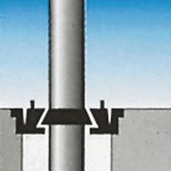 Bodenhalterung Excenterein- stellung für Mast-Ø 75mm