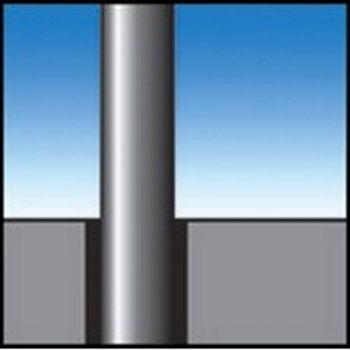 Bodenhülse für Mast-Ø 75mm