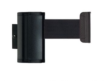 Wandkassette Alu, schwarz mit 2,3m Gurtband, schwarz