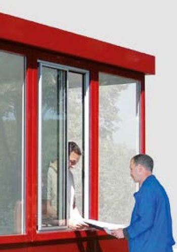 Schiebefenster für Raumeinheit Mod. W