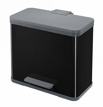 Tret-Abfallsammler, PfofiLine Solid Öko Duo, 1 x 9 1 x 17 Ltr., schwarz