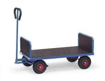Handwagen mit 2 Stirnwänden Ladefläche 1000 x 600 mm