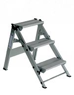 Aluminium-Klapp-Treppe Arbeitshöhe ca. 2,40 m, 2 Stufen