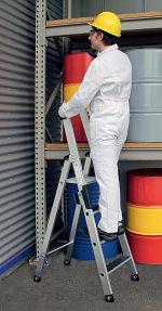 Aluminium-Stehleiter clip-step einseitig begehbar, 6 Stufen