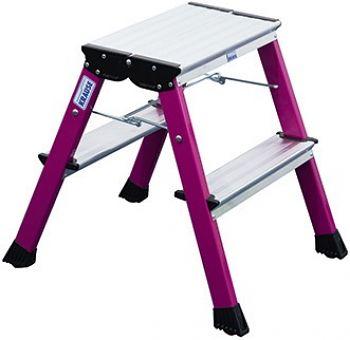 Rolly Doppel-Klapp Tritt 2 x 2 Stufen pink