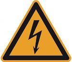 Warnschild PVC-Folie 200 mm Warnung vor gefährlicher...