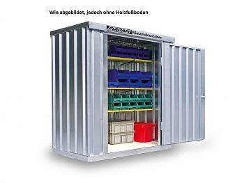 Materialcontainer verz., zerl. ohne Boden