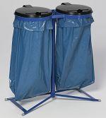 Müllsackständer Standard D, enzianbl. HxBxT: 980 x 850 x 480 mm