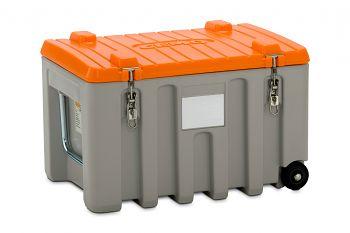 PE-Werkzeugbox Trolley 150 Ltr. grau/orange LxBxH 800 x 600 x 530 mm