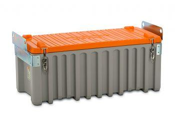 PE-Werkzeugbox kranbar 250 Ltr. grau/orange LxBxH 1200 x 600 x 570 mm
