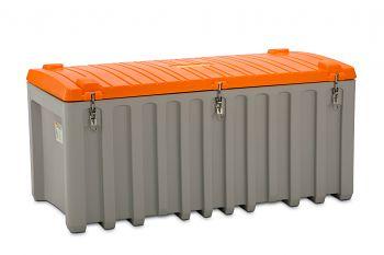 PE-Werkzeugbox mit Seitentür 750 Ltr. grau/orange LxBxH 1700 x 840 x 800 mm
