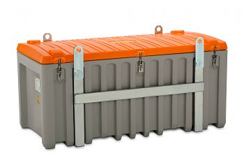 PE-Werkzeugbox kranbar  750 Ltr. grau/orange LxBxH 1700 x 860 x 800 mm
