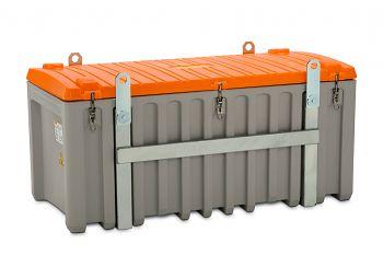 PE-Werkzeugbox kranbar mit Seitentür grau/orange LxBxH 1700 x 860 x 800 mm
