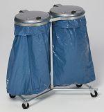 Müllsackständer Super D verzinkt HxBxT: 1020 x 860 x 500 mm