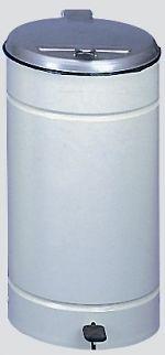 Tretabfallsammler,Beschichtet grau, Deckel Silber