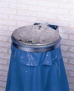 Abfallsammler mit Wandkonsole 1fach, mit Metalldeckel